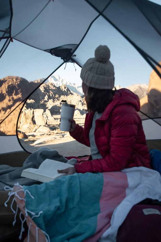 fall camping in california