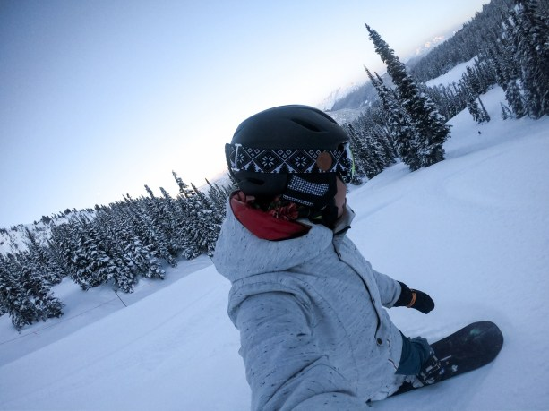 riding fresh lines at Whistler