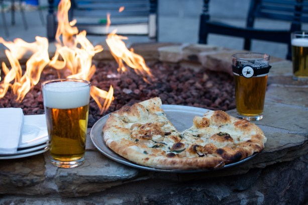 pizza and beer at AleWorx