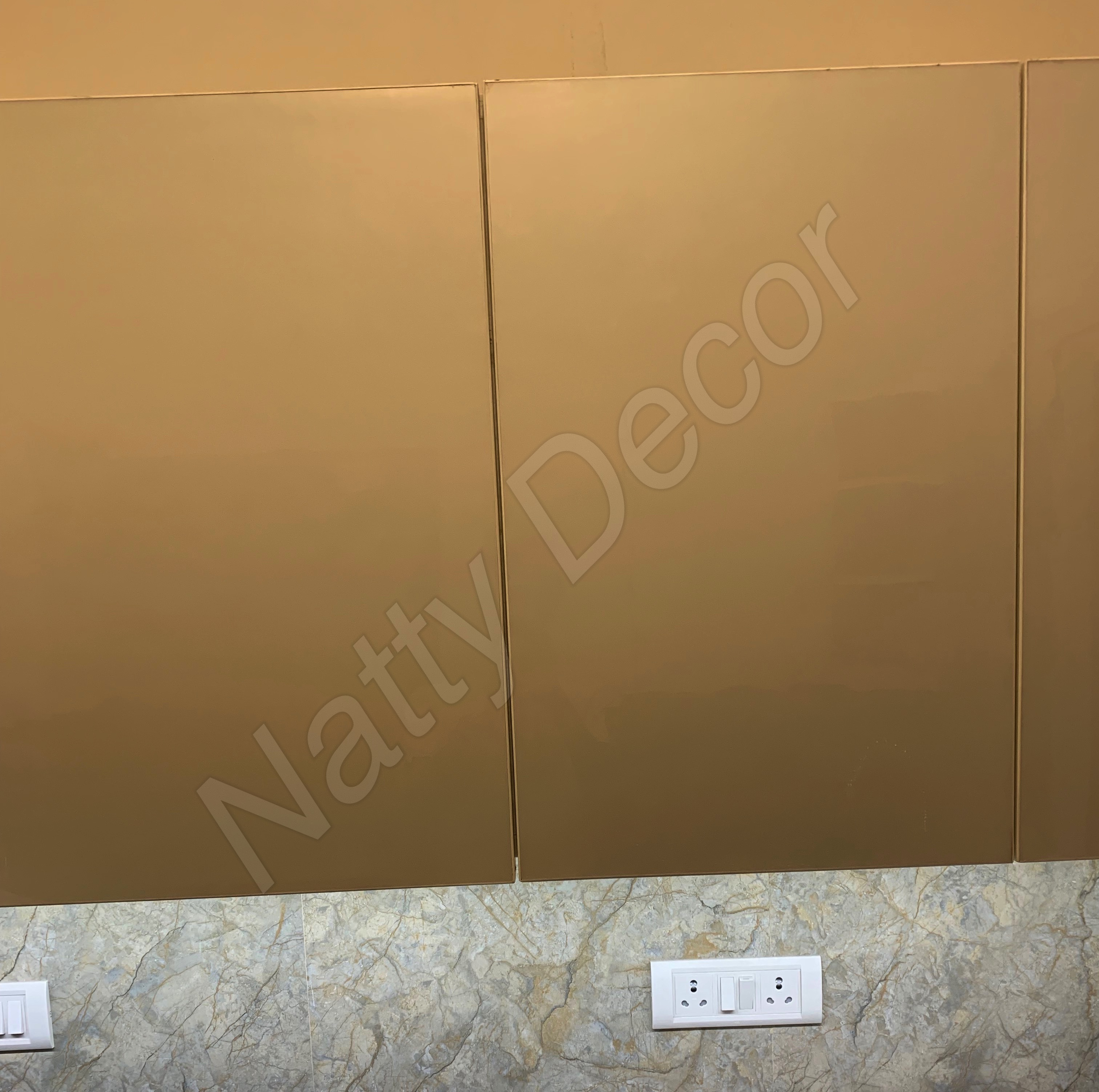 image of cabinet yellowish in colour
