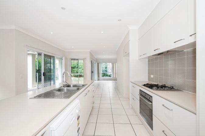 white parallel kitchen