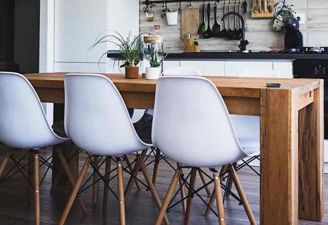 Plain kitchen table