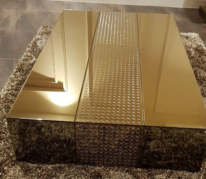 image of centre table golden color