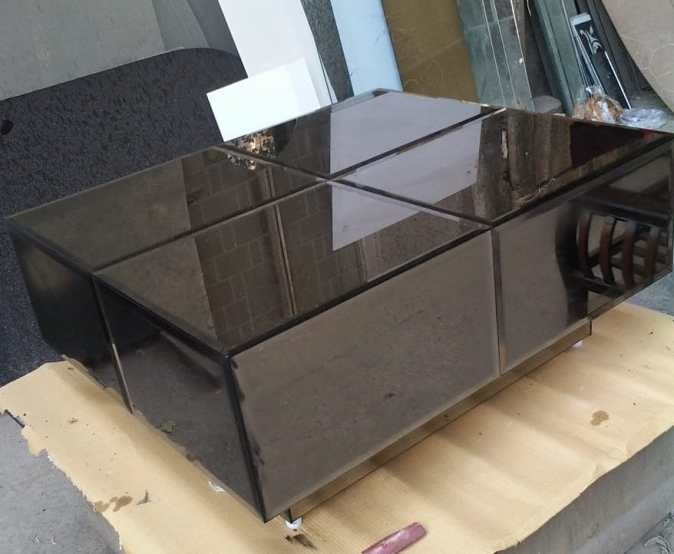 image of centre table dark brown color