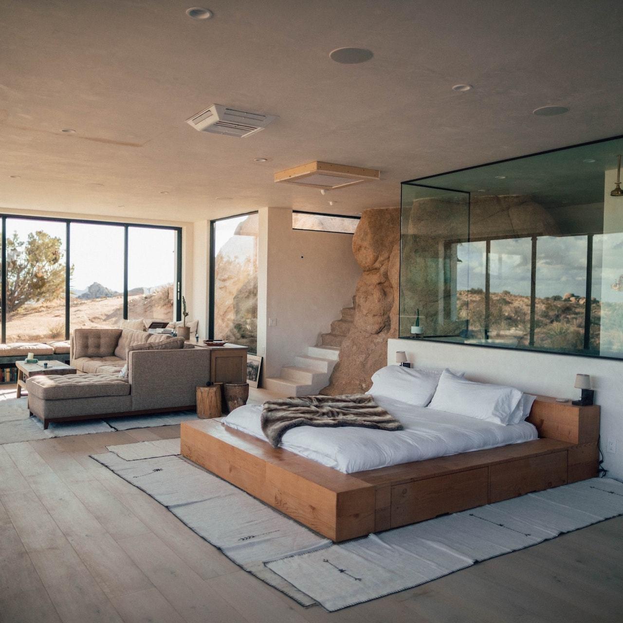 image of bedroom sleek bed