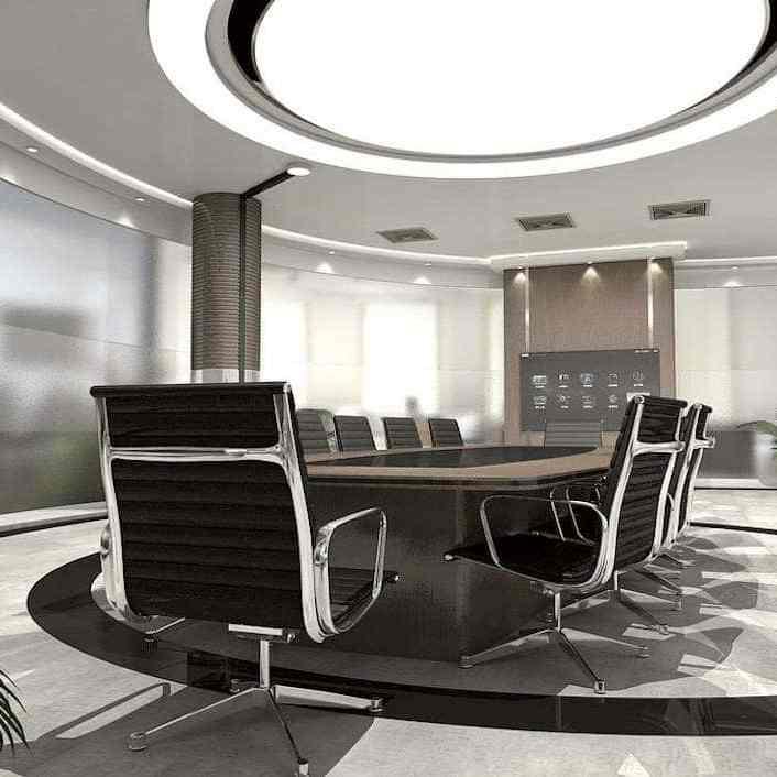 meeting room marble flooring