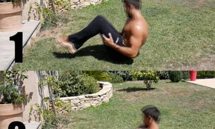 Exercice musculation: Crunchs rameur