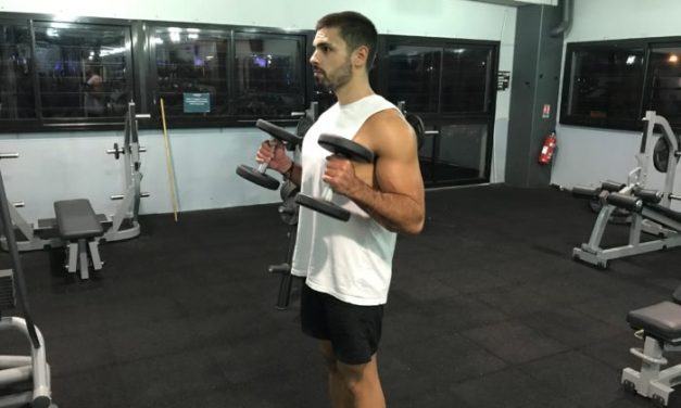 Exercice musculation: Curl haltères debout
