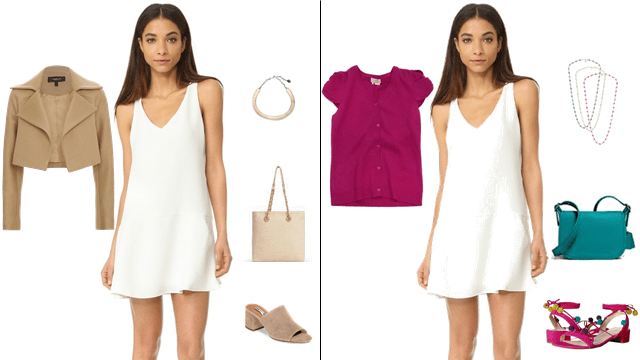 White clothing, how to style white, white dresses