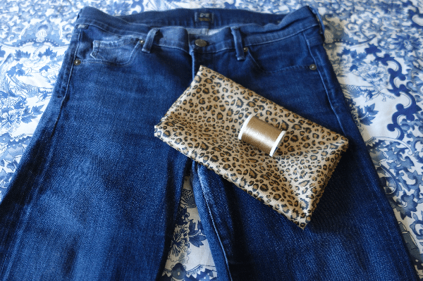 Look for Less | Embellished Hem Jeans | Recycle Clothing