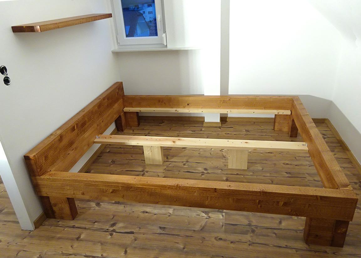 Terrassenmobel Holz Selber Bauen Balkenbett Fichte Eiche Wildeiche