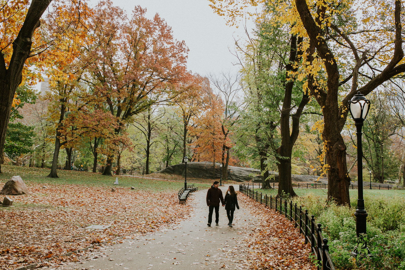Fall Central Park Engagement Session, Fall in Central Park, Fall Engagement Sessions in Central Park