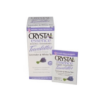Crystal Body Deodorant, Crystal Essence Mineral Deodorant, Lavender & White Tea, 24 Towelettes