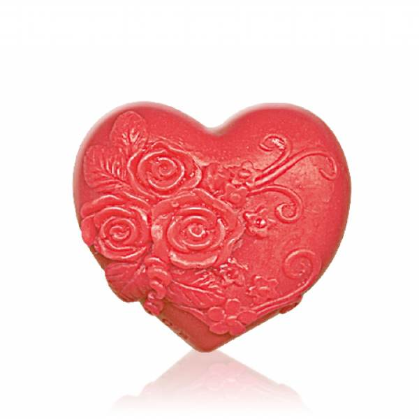 "GLYCERINE SOAP ""HEART IN LOVE"" - RED x65 GR"