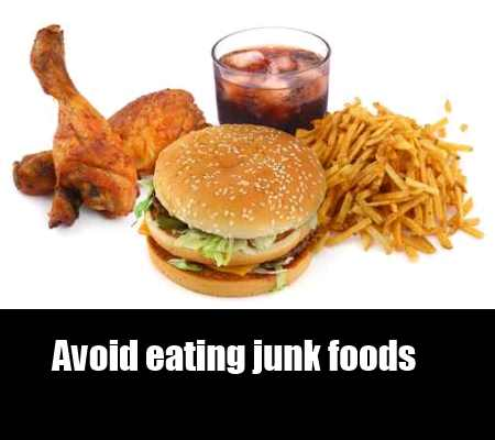 Be Away From Junk Foods