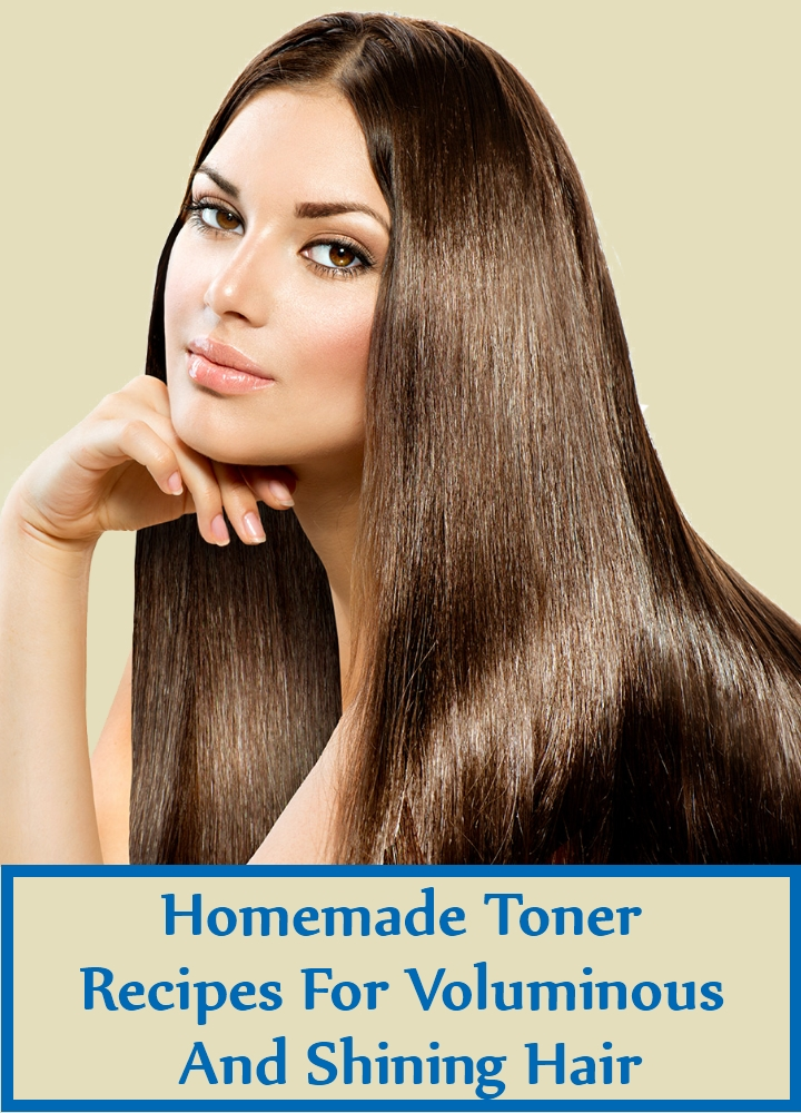 Homemade Toner Recipes For Voluminous And Shining Hair