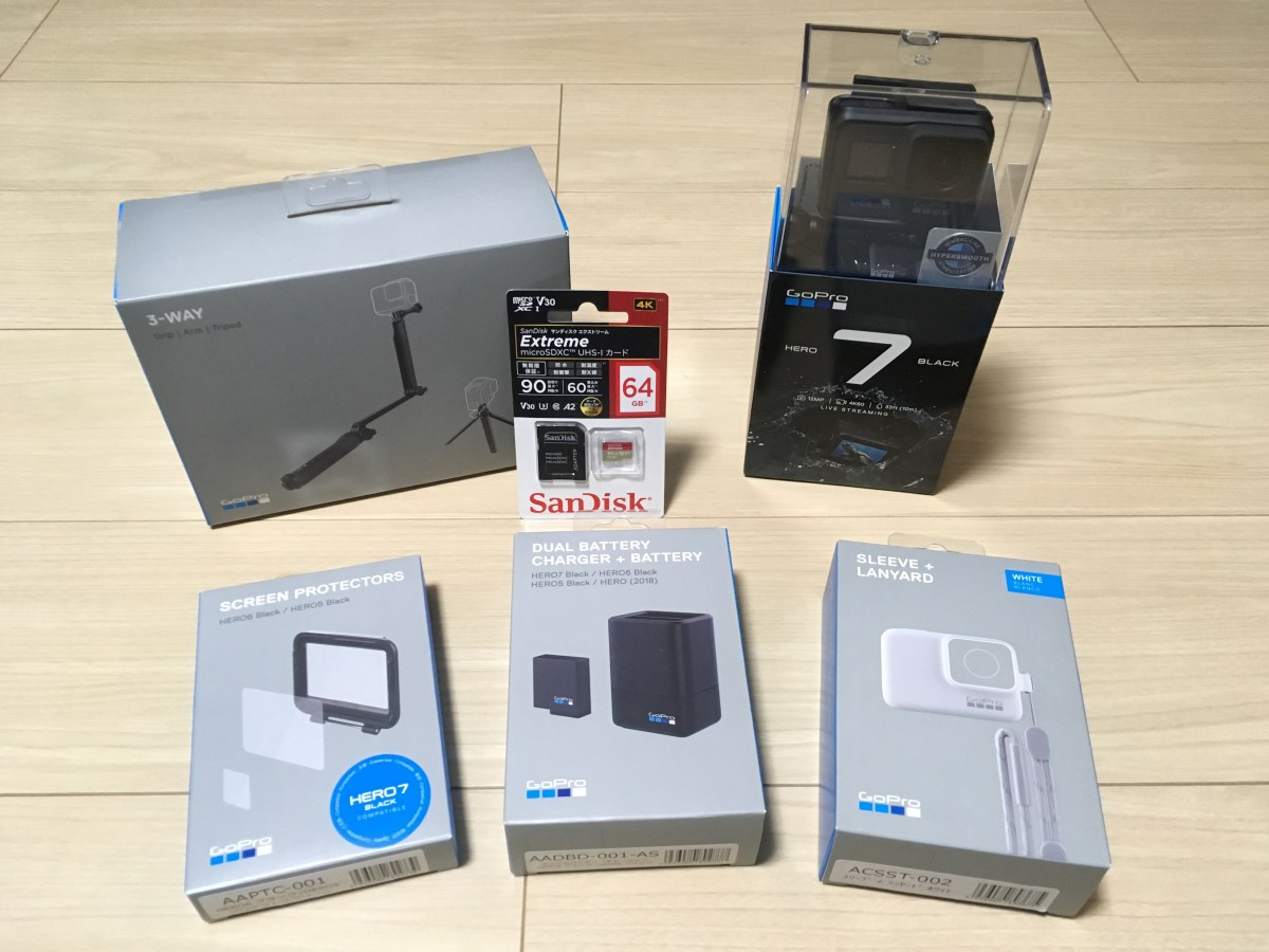 【GoPro HERO7 Black】ついに購入(・∀・)
