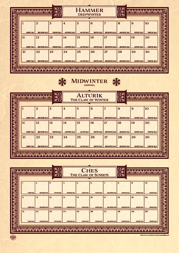 printable faerun calendar arts