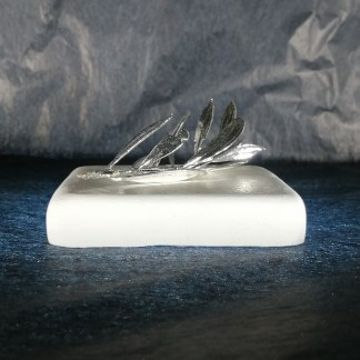paperweight white 8_8_2 olive tree silver plated (2)