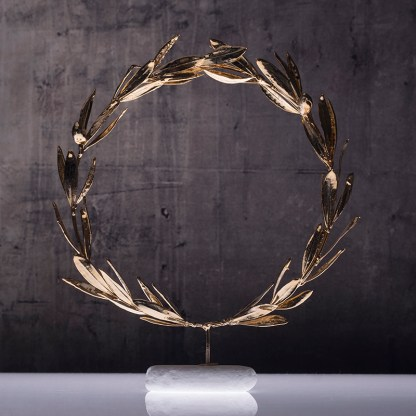 wreath olive gold plated Νο3