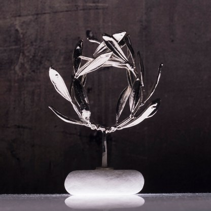 wreath olive silver plated Νο0