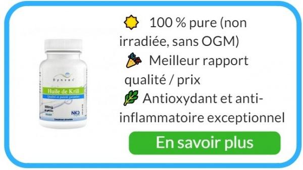 Aliments alcalinisants à l'huile de krill