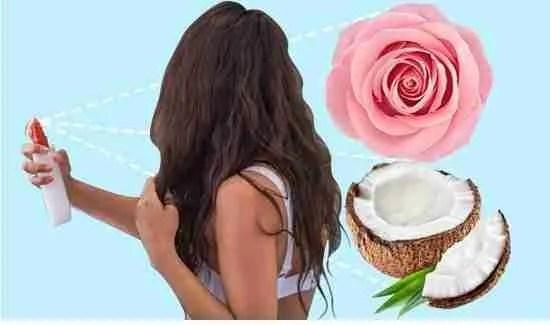 Coconut Oil & Rosewater Hair Mist