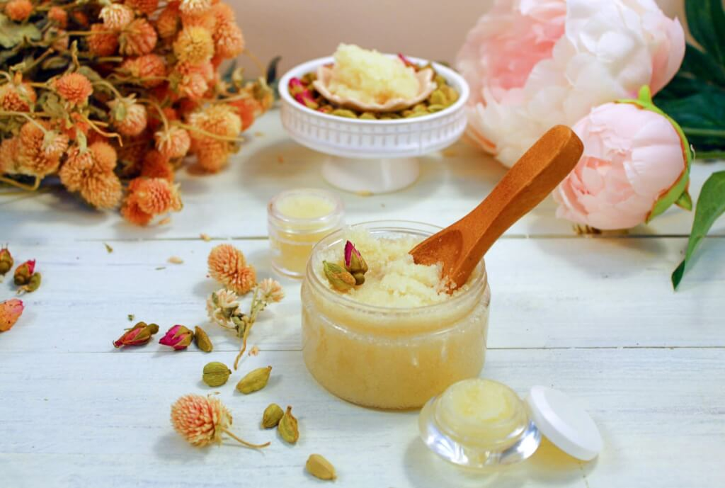 Cardamom Rose Lip and Body Scrub