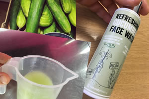 Cucumber Face Wash Fresh from Organic Cucumbers for natural skincare
