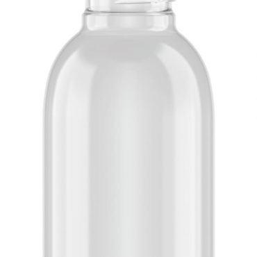 400ml Clear Plastic Wide Mouthed Bottle / Jar 43mm neck PET Plastic with Aluminium Cap