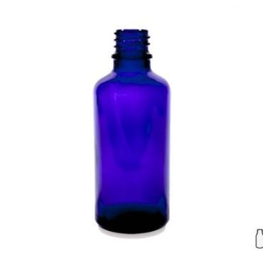 50ml Blue Glass Dropper Bottle