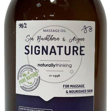 Signature massage oil a rich blend of cold pressed oils