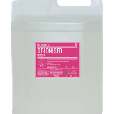 Hi-Grade De-Ionised water to produce cosmetic formulations, suitable for both surfactant and lotion based formulations
