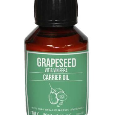 Grapeseed Carrier Oil, super rich in Vitamin E and sourced directly from Parma, Italy for purity. Everyday low price