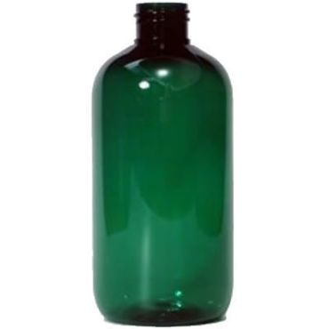250ml Green Plastic Bottle, Traditional Boston StyleA Green Boston bottle with a standard 24/410 neck, made from PET plastic.