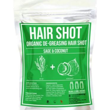 Sage & Coconut Hair De-Greasing Hair Shot a natural hair remedy