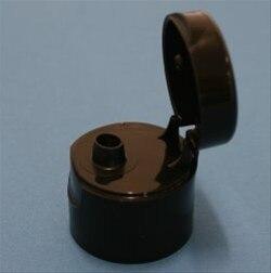Black Flip Top cap for hand sanitiser