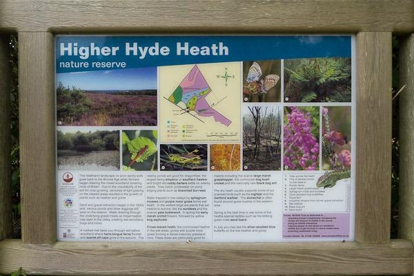 Entrance board at Higher Hyde Heath