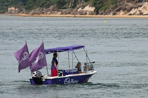 The Cadbury's boat in Poole Harbour