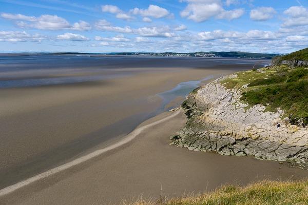 Morecambe Bay at low tide.