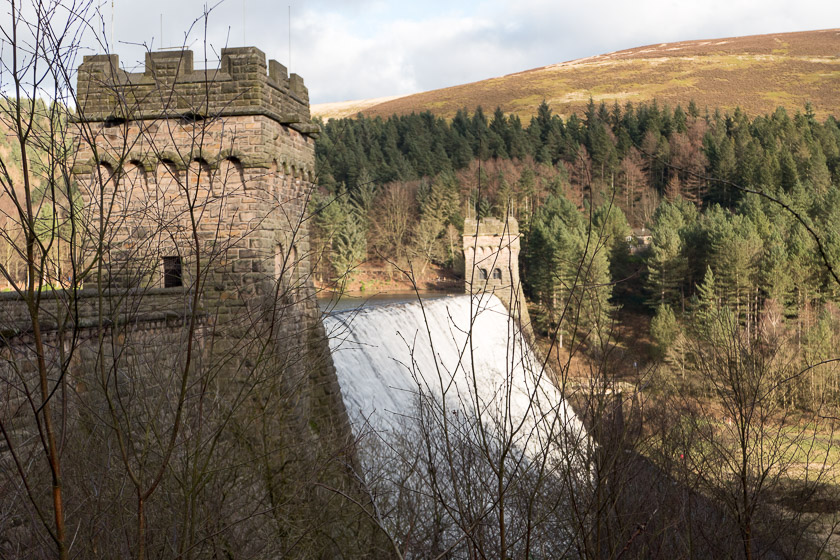 One of the iconic dams located in the Derwent Valley, Peak District
