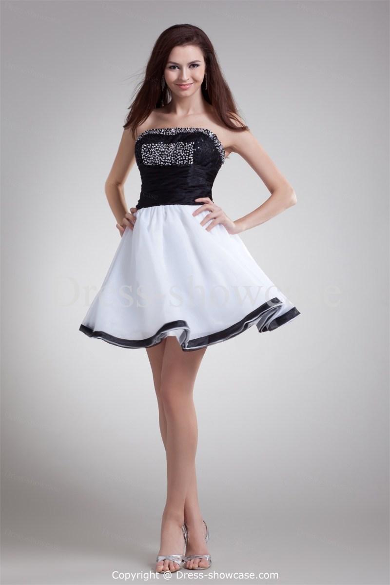 5e3d0a7787 cocktail-dresses-for-juniors-black-white-short-mini-organza ...