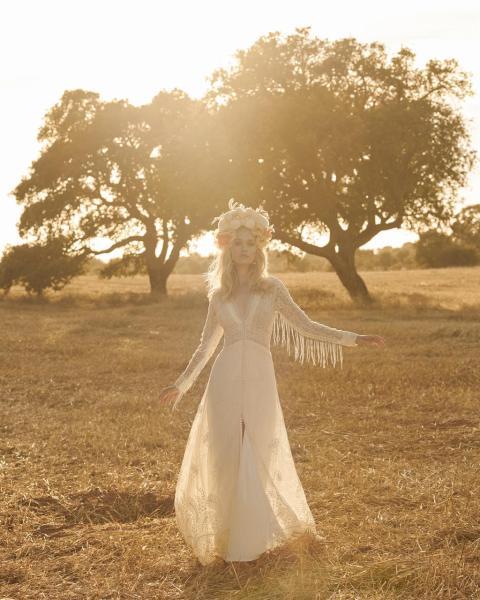 vestidos de novia 2020 boho
