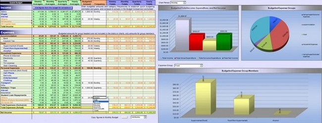 Budget Spreadsheet App | Natural Buff Dog
