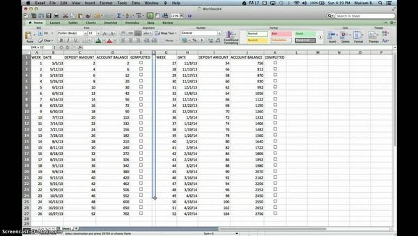 52 week savings plan spreadsheet south africa | Natural Buff Dog