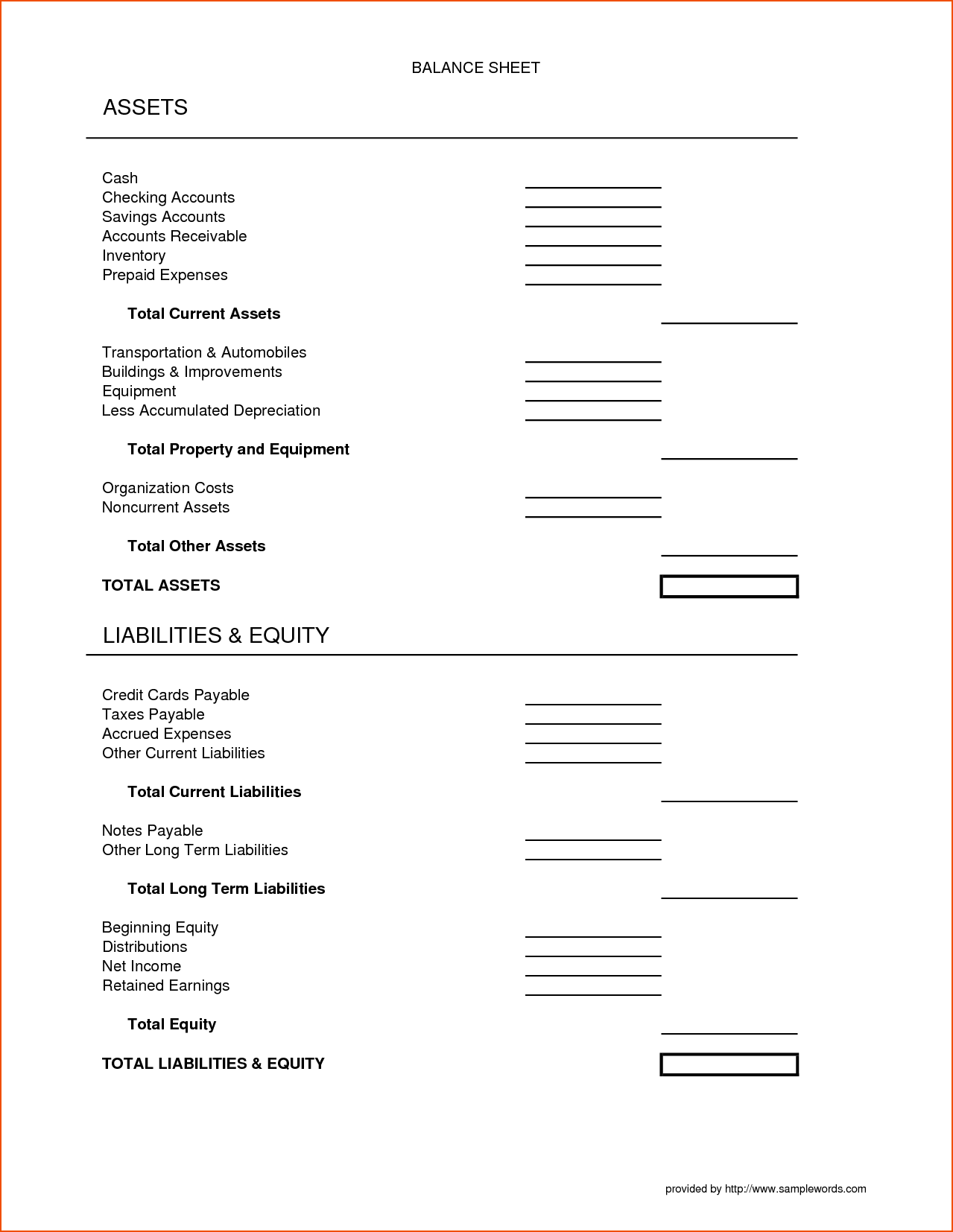 Dentrodabiblia Assets And Liabilities Worksheet