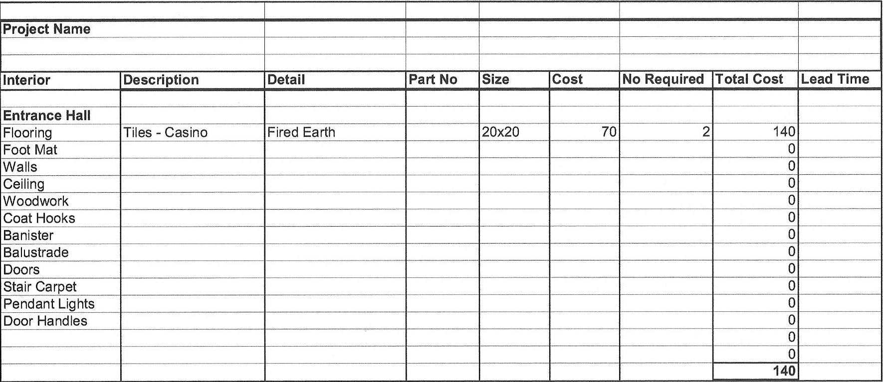 Remodel Cost Spreadsheet  Natural Buff Dog