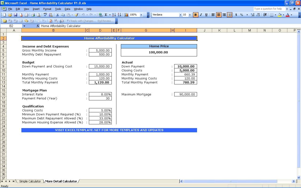 Download Compound Interest Loan Calculator