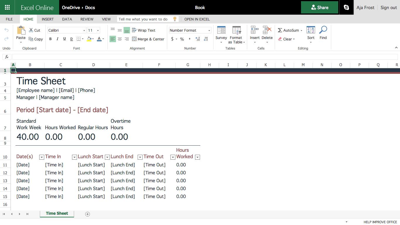 Create A Spreadsheet Online Free