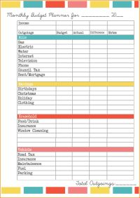 Free Budget Worksheets Excel And Free Budget Template ...